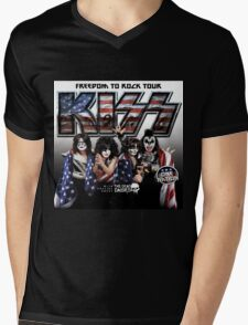 FREEDOM TO ROCK TOUR - KISS Mens V-Neck T-Shirt
