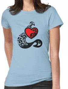 Tatted Heart Womens Fitted T-Shirt