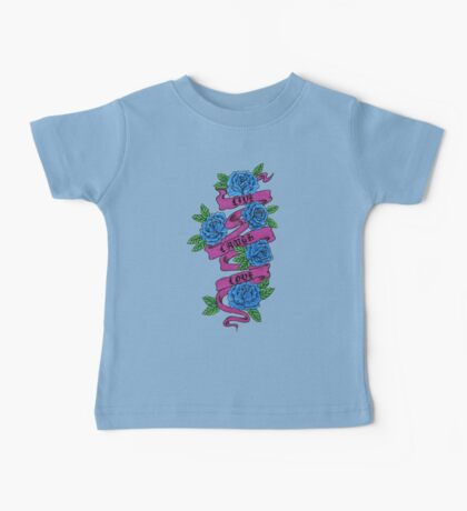 roses with scrolls.. live laugh love Baby Tee