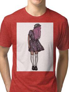Dark Hipster Girl Tri-blend T-Shirt