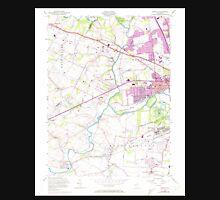 USGS TOPO Map New Jersey NJ Raritan 254814 1955 24000 Unisex T-Shirt