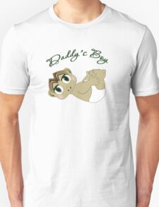 Daddy's Boy Brown Hair and Green Eyes Unisex T-Shirt