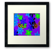 Retro 60's Flower Power Art Framed Print