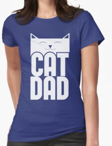 Cat Dad Womens Fitted T-Shirt