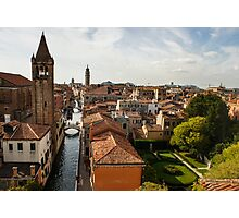 Red Roofs of Europe - Venetian Canals, Palaces, Gardens and Courtyards Photographic Print