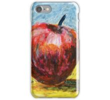 Red apple - Oil pastel painting iPhone Case/Skin