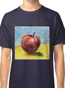 Red apple. Oil pastel painting Classic T-Shirt