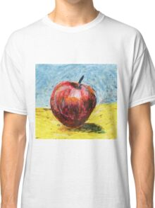 Red apple - Oil pastel painting Classic T-Shirt