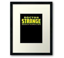 Doctor Strange - Classic Title - Clean Framed Print