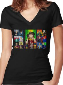 The Doctor of the Universe - The Icon Women's Fitted V-Neck T-Shirt