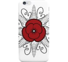 Red ANZAC Poppy iPhone Case/Skin