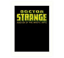Doctor Strange - Classic Title - Dirty Art Print