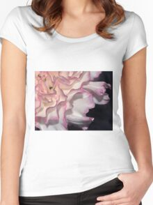 Tipped in Pink - Carnation or Tutu? Women's Fitted Scoop T-Shirt