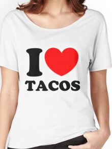 """I Heart Tacos"" Women's Relaxed Fit T-Shirt"