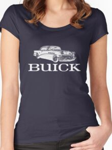 Buick Car (White) Women's Fitted Scoop T-Shirt