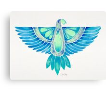 Parrot – Blue Ombré Canvas Print