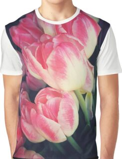 Dramatic Pink Tulips Graphic T-Shirt
