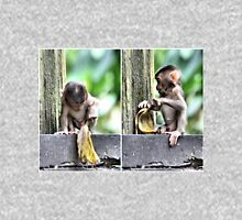 Pig-tailed Macaque Baby Playing, Borneo  Unisex T-Shirt