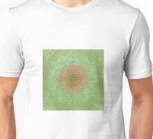Mandala Dream in peach & green  Unisex T-Shirt