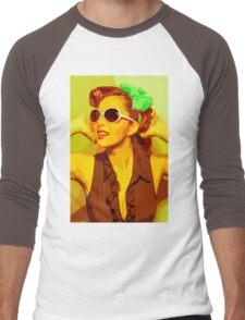 Timeless Vintage Girl Men's Baseball ¾ T-Shirt