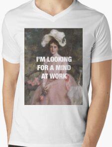 Angelica — Mind at Work Mens V-Neck T-Shirt
