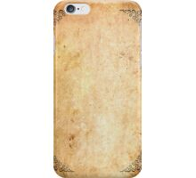 Framed Corners Aged Paper iPhone Case/Skin