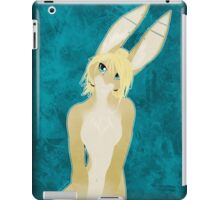 Blonde Buns on Blue Backdrops iPad Case/Skin
