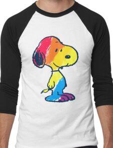 Snoopy Colorful Men's Baseball ¾ T-Shirt