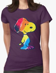 Snoopy Colorful Womens Fitted T-Shirt