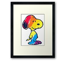 Snoopy Colorful Framed Print