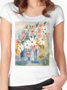 Cosmos in a pot Women's Fitted Scoop T-Shirt