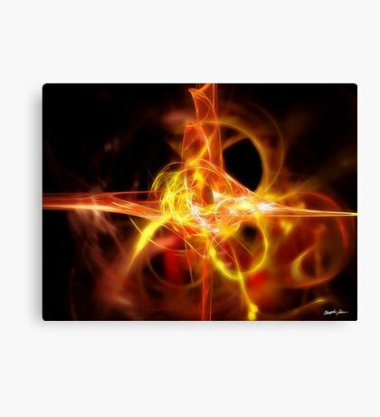 Creature 2 Gold Red Canvas Print