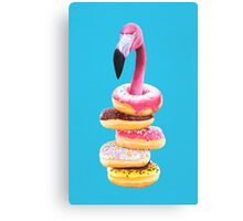 A Famished Flamingo Canvas Print