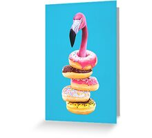 A Famished Flamingo Greeting Card