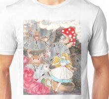 Alice's time travel in wonderland Unisex T-Shirt