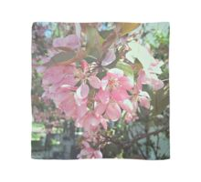 Delicate Pink Flowers Scarf