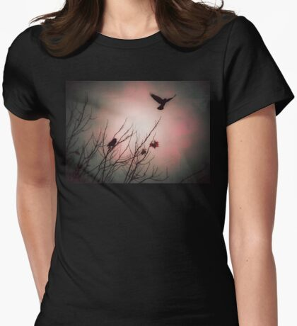We fly as one, Crow spirit Womens Fitted T-Shirt