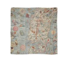 Vintage Old World Map Scarf