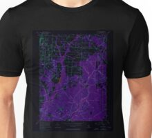 USGS TOPO Map New Jersey NJ Five Points 254371 1956 24000 Inverted Unisex T-Shirt