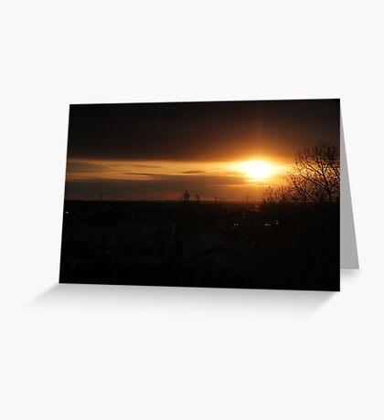 Edmonton sun rise Greeting Card