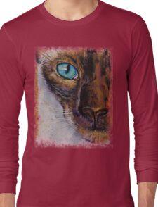 Siamese Cat Painting Long Sleeve T-Shirt