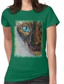 Siamese Cat Painting Womens Fitted T-Shirt