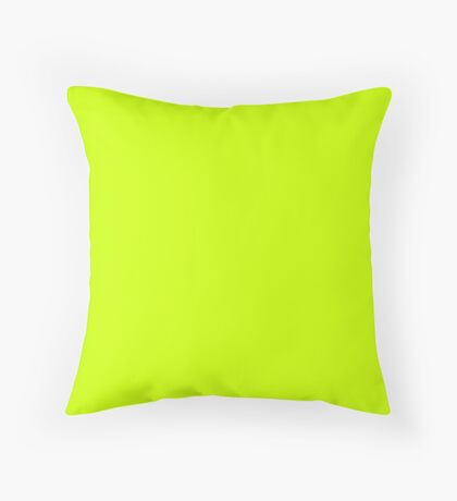 Electric Vibrant Lime Solid Color Throw Pillow