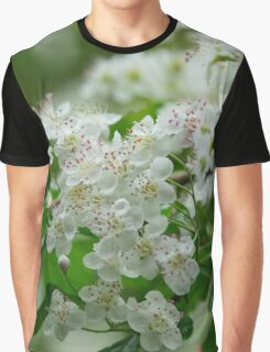 Tiny White Blossoms Graphic T-Shirt