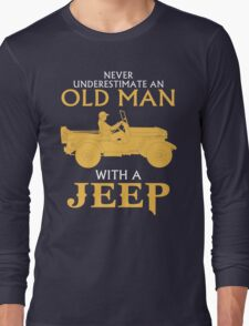 OLD MAN WITH A JEEP Long Sleeve T-Shirt