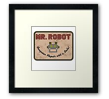 Mr Robot TV Series Framed Print