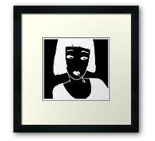 Have a Cig, Girl (white on black) Framed Print