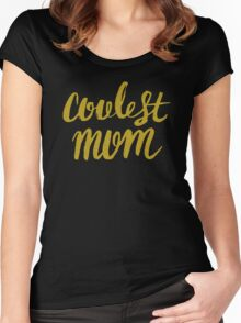 Black & Gold hip selection, for coolest mother Women's Fitted Scoop T-Shirt
