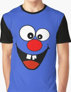 Cracked Tooth - Big Red Nose Cartoon Head Decal Kids Bag Tee Graphic T-Shirt