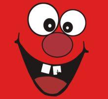 Cracked Tooth - Big Red Nose Cartoon Head Decal Kids Bag Tee Kids Tee